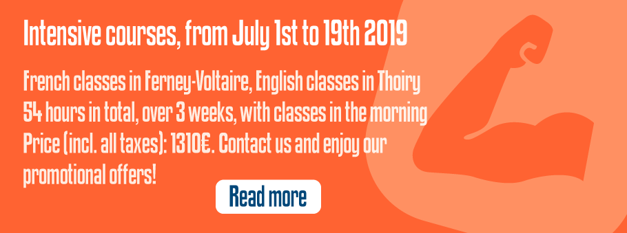 Intensive courses, from July 1st to 19th 2019