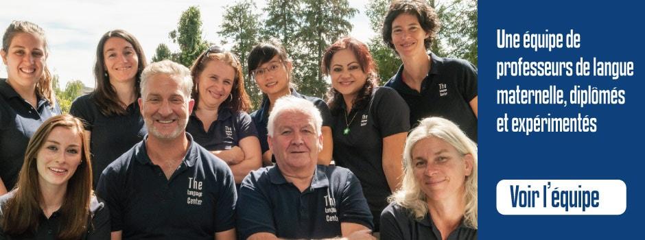 Une équipe de professeurs de langue maternelle, diplômés et expérimentés